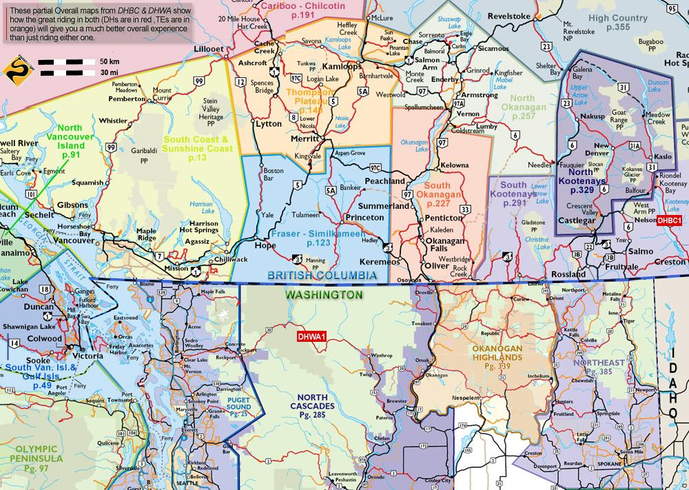 Bc Washington Map.Destination Highways